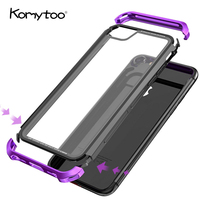 Case For IPhone X 10 Film Luxury Metal Bumper 360 Degree Full Cover Shell Protector Case