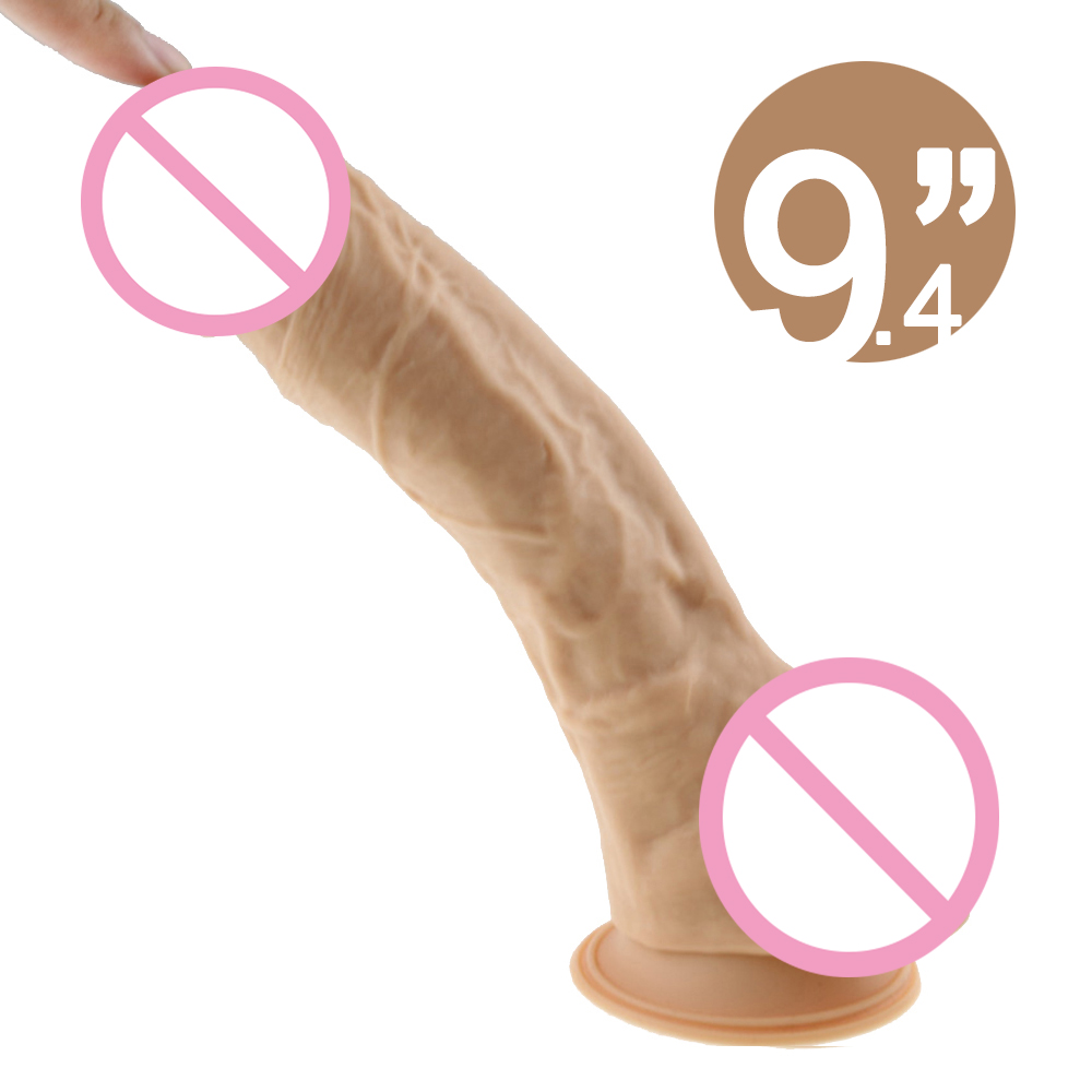 Flesh Realistic Big Dildo Silicone Flexible Penis With Strong Suction Cup Huge Dildos Cock Adult Sex Products Sex Toys for Women faak realistic big dildo pvc flexible penis dick with strong suction cup huge dildos cock adult sex products sex toys for women
