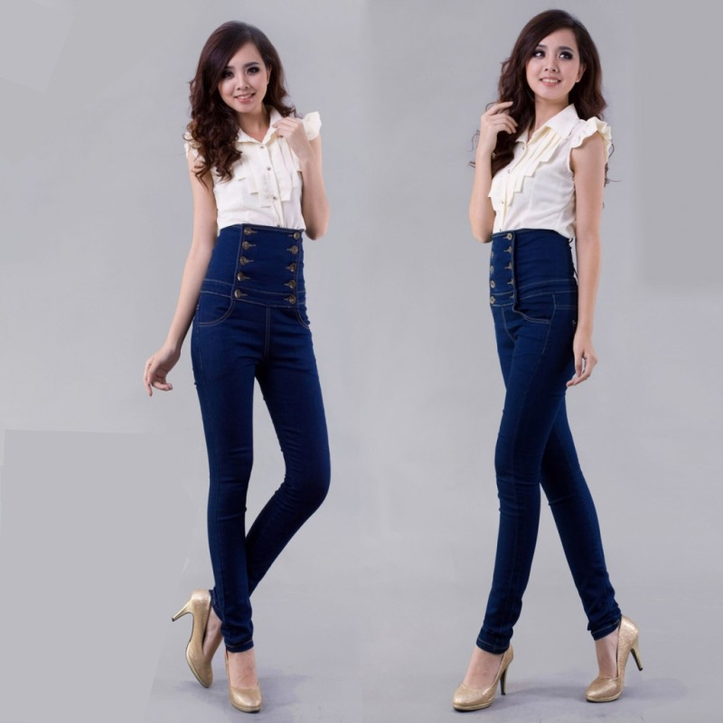 Plus Size 6XL Skinny Jeans 2016 Fashion Brand Jeans Woman Casual Women High Waist Jeans Women's Pants Denim Women Jeans Trousers