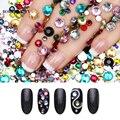 2000 piezas BORN PRETTY Flatback uñas diamantes de imitación colorido cristal mezclado tamaño clavos 1 bolsa HotFix manicura decoración de uñas