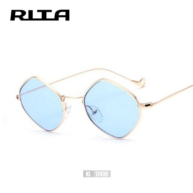 Rita Mode Petit Losange D été Style lunettes de Soleil Femmes Hommes  Alliage Cadre Miroir 16ba50fc086b
