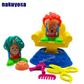 Kid 's colored Plasticine mold tool hair cut mud plastic clay mold clay children' s DIY clay extruder non - toxic educational to