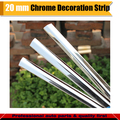 Chrome Silver Car Exterior & Interior Door Roof Bumper Grilles Car Protector Decorative  Moulding Sticker Strip 20MMx 400CM