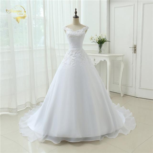 Vestido De Noiva Brautkleid Casamento A line Kappen hülsen Robe De ...