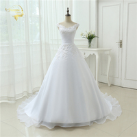 Hot Sale Free Shipping 2015 New Arrival A Line Sweetheart Organza Women Vestidos White Ivory Wedding
