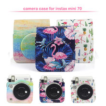 Quality Protective PU Leather Instax Camera Case Bag with Shoulder Strap, Compatible for Fujifilm Instax Mini 70 Instant Camera(China)