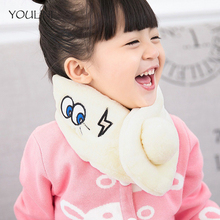 YOULINE 2017 Hot!Cute pom poms Striped winter scarf kids baby Lovely Plush scarf warm neck warmer scarves for children S17245