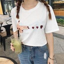 2018 mulheres verão novo Coreano amor Harajuku bordado curto-sleeved bts  bonito casual solto tamanho grande curto-T-shirt de man. 0d8a910d84974