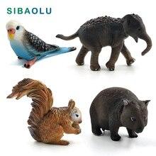 Simulation Squirrel Elephant Parrot Wombat Animal model figurine home decor miniature fairy garden decoration accessories modern