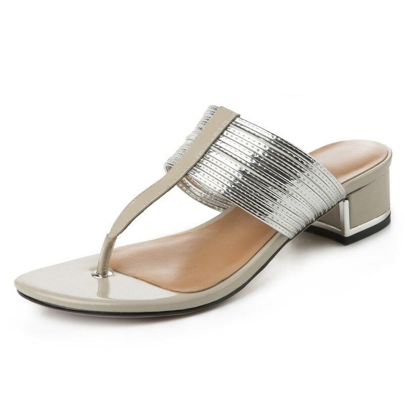 2019 брендовая качественная роскошная женская обувь из натуральной кожи на плоской платформе женские повседневные вечерние летние сандалии ... - 3
