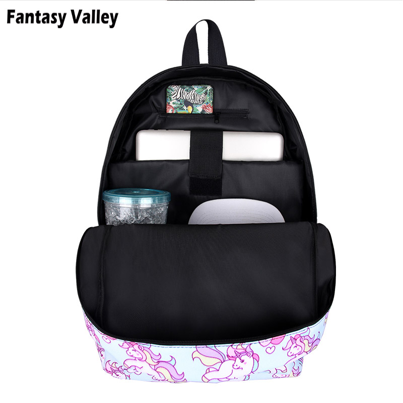 Pink Unicorn Backpack For Teenager Girls Children School Bags Little Pony  Women Laptop Backpack Kids Book Bag Backpacks Gift-in Backpacks from Luggage  ... d3c7cfff5b