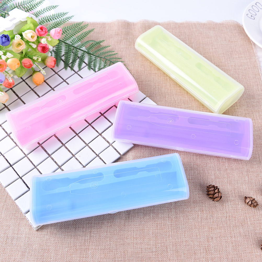 Cute Toothbrush Holder Feminine Hygiene Products Travel Camping Hiking Storage Electric Toothbrush Protector Box Case For Oral B