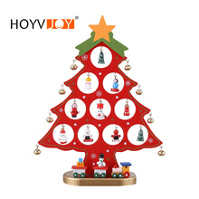 HOYVJOY DIY Christmas Ornament Wooden Tree Hanging Gift for Children Home Xmas Table Decoration