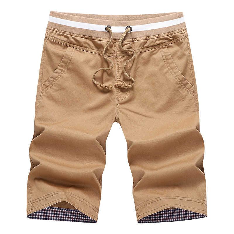 HTLB Brand New Men's Summer Fashion Casual Bermuda Beach Board Shorts 2019 Summer Pure Cotton Denim Masculina  Shorts Men