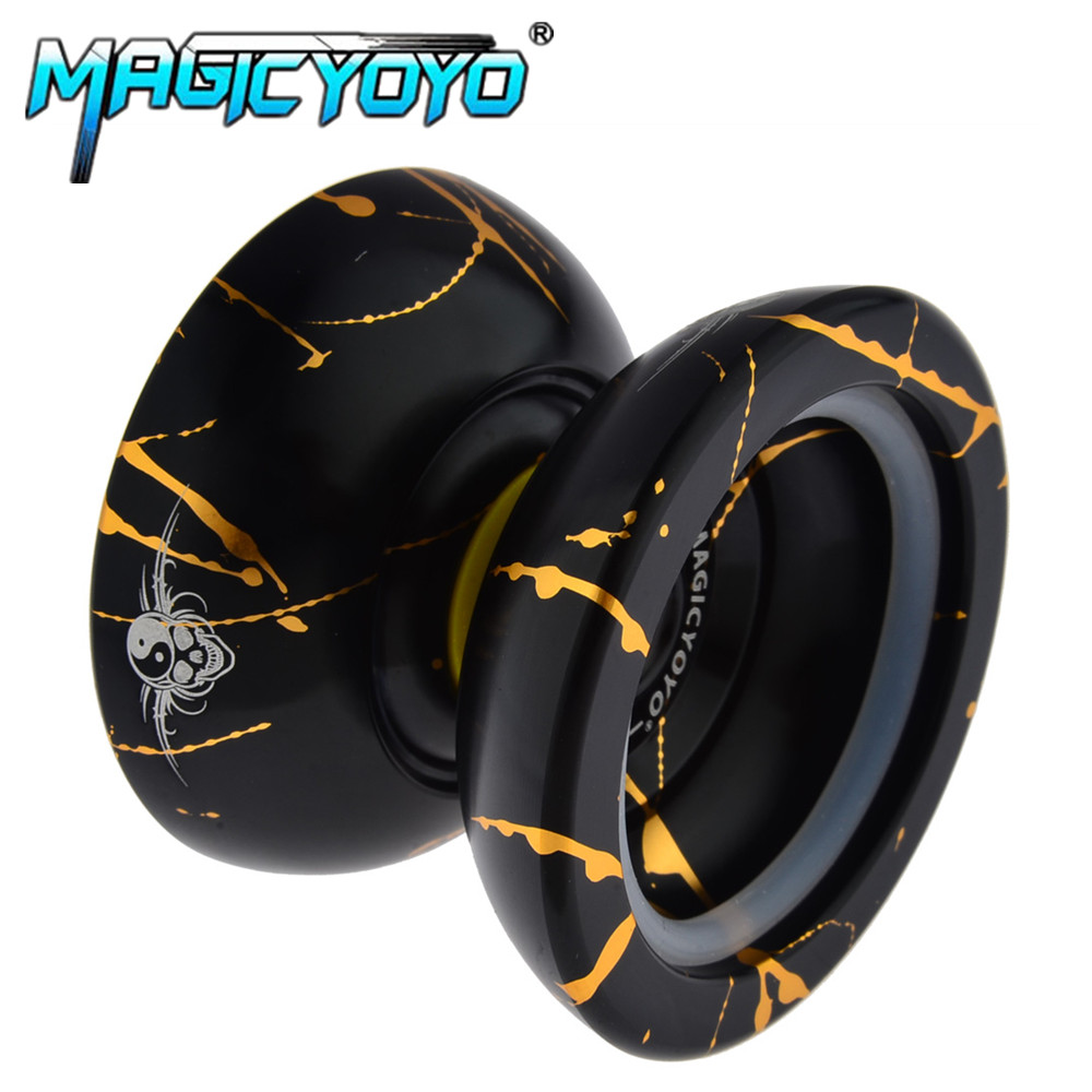 Toys & Hobbies 100% True Magic Yoyo D1 2a--ghz Yoyo Metal Bearing Suitable For Beginners Toys Special Props Diabolo Juggling 10 Strings As Gift Durable Modeling Classic Toys