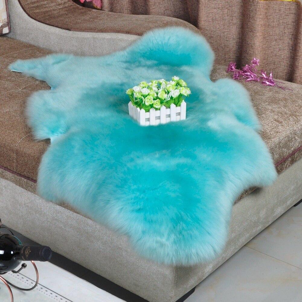 Australie en peau de Mouton tapis peau De Mouton De Fourrure tapis Canapé Coussin Tapis Et Tapis Pour salon Tapis de Sol Décoratif couvertures Lit