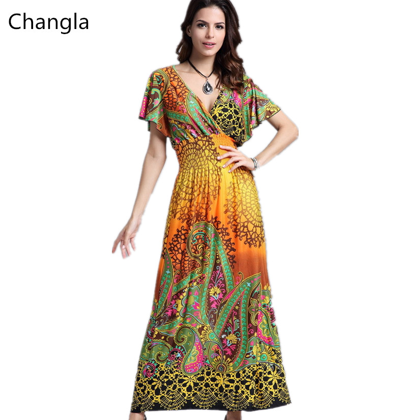 Changla Women Summer Maxi Dress 2016 Party Dresses Beach ...