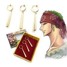 3PCS/1SET One Piece Pirate Hunter Roronoa Zoro Cosplay Costu