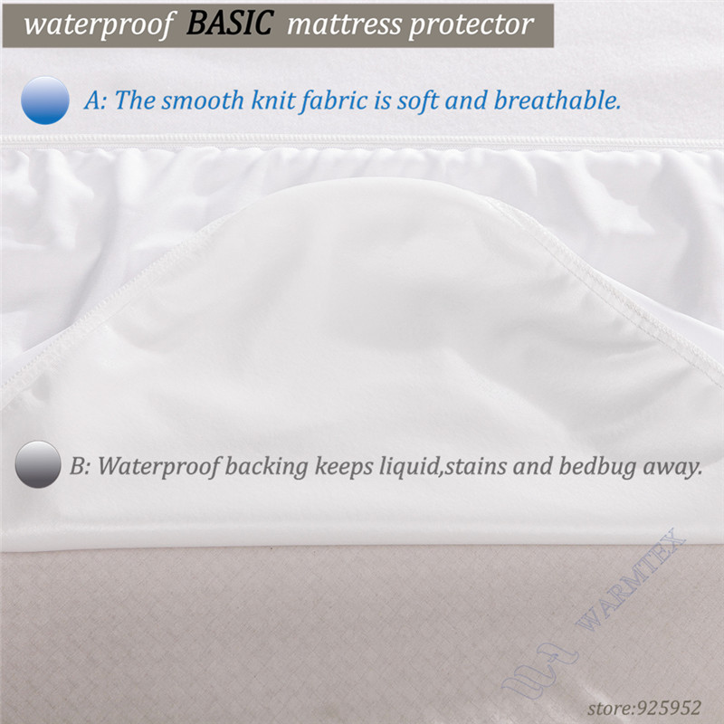 Russian High quality Customized Basic knit Waterproof Mattress Cover/ Mattress Protector 90x200x35ccm fits matress 20cm to 30cm