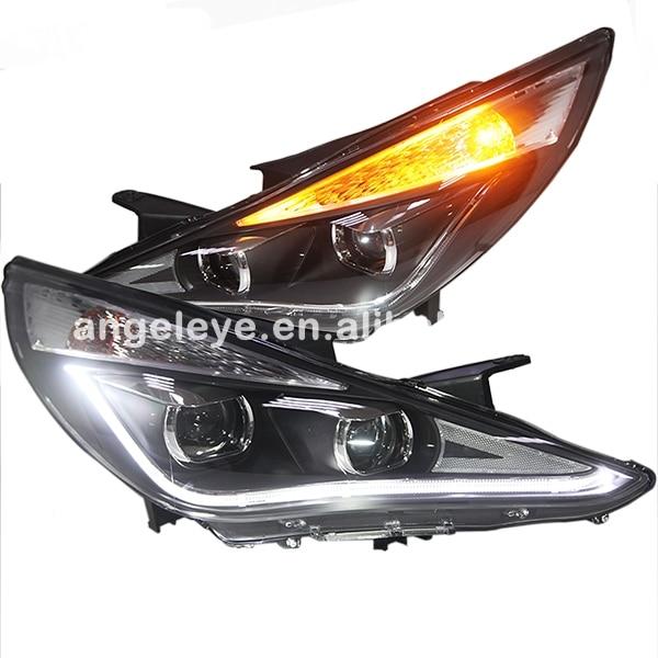 2009-2013 an pour HYUNDAI Sonata YF Sonata I45LED phare avec lentille de projecteur Bi xénon ZJ