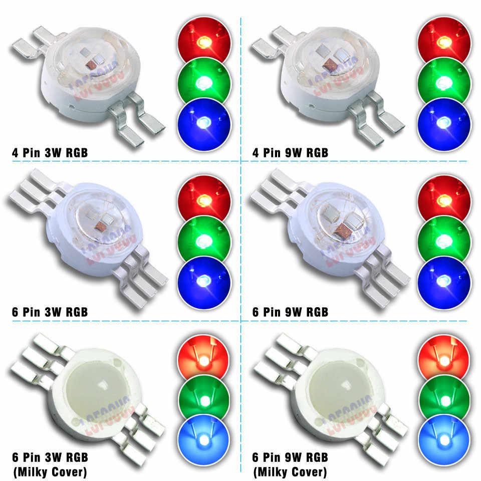RGB RGBW RGBWW RGBWY RGBWYV High Power LED Chip 3W 4W 5W 6W 15W 18W Colorful For DIY molding LED Stage Light Source Beads