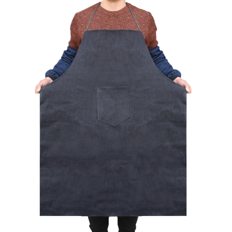 5 Pcs/lot Denim Apron Wear Resistance Work Aprons For Men Women Labor Electric Welding Restaurant Home Kitchen Garment Aprons Lustrous Surface Safety Clothing