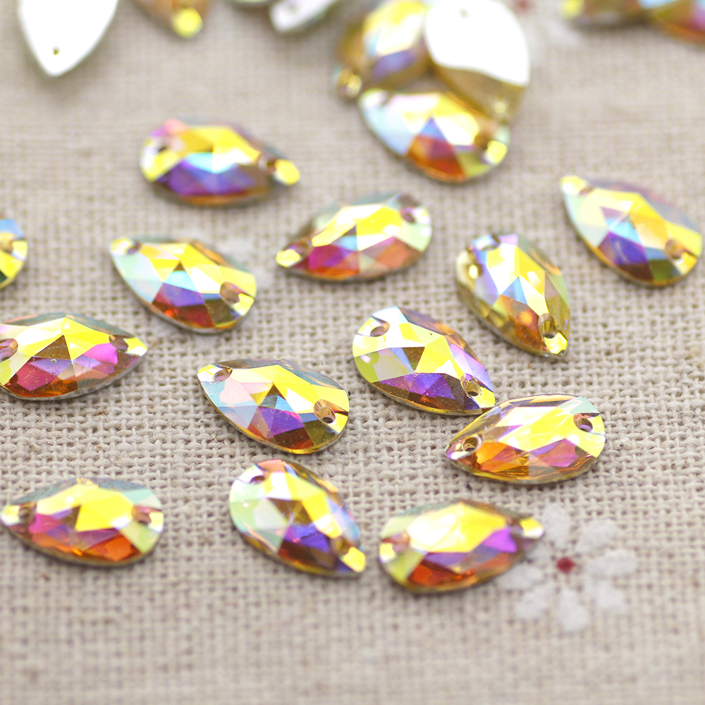 100pcs Marquise Crystal Silver Base Flat Back Resin Rhinestone Stones DIY Crafts