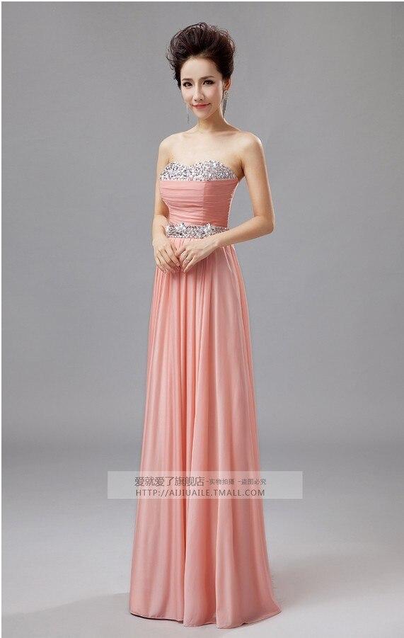 Apricot colored dress