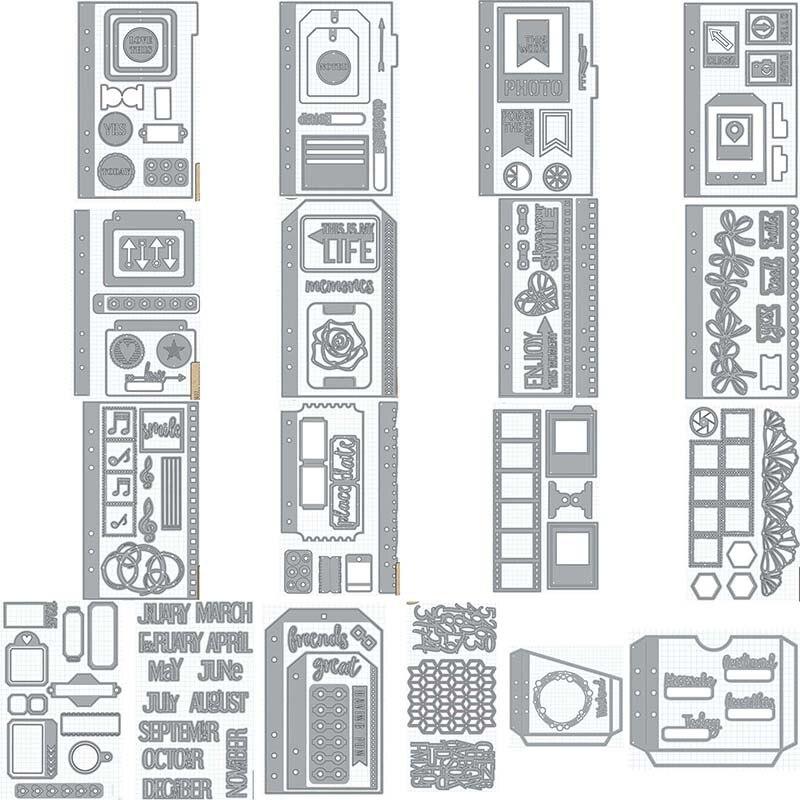 Métal coupe meurt tous planificateur essentiels pochoirs fleur pour bricolage Scrapbooking Album papier carte décorative artisanat gaufrage