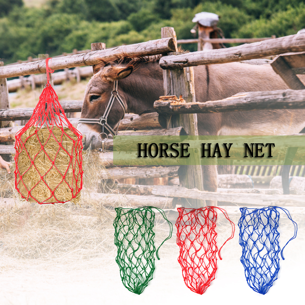 Image 5 - 5.4in Horse Hay Net Donkey Feeding Bag Slow Feeder Forage Bag Equestrian Feeding Supply for 8.8lb(4kg) of Hay Horse Accessory-in Horse Care Products from Sports & Entertainment
