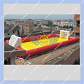 Hot 12m Long red Inflatable Football Field, Soccer Field Free Shipping Good Quality