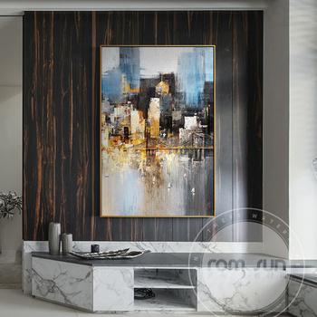 Abstract City Light In Night Poster n Print Modern City Landscape Painting For Living Room Aisle Fashion Bar Pub Wall Art Decor another bullshit night in suck city