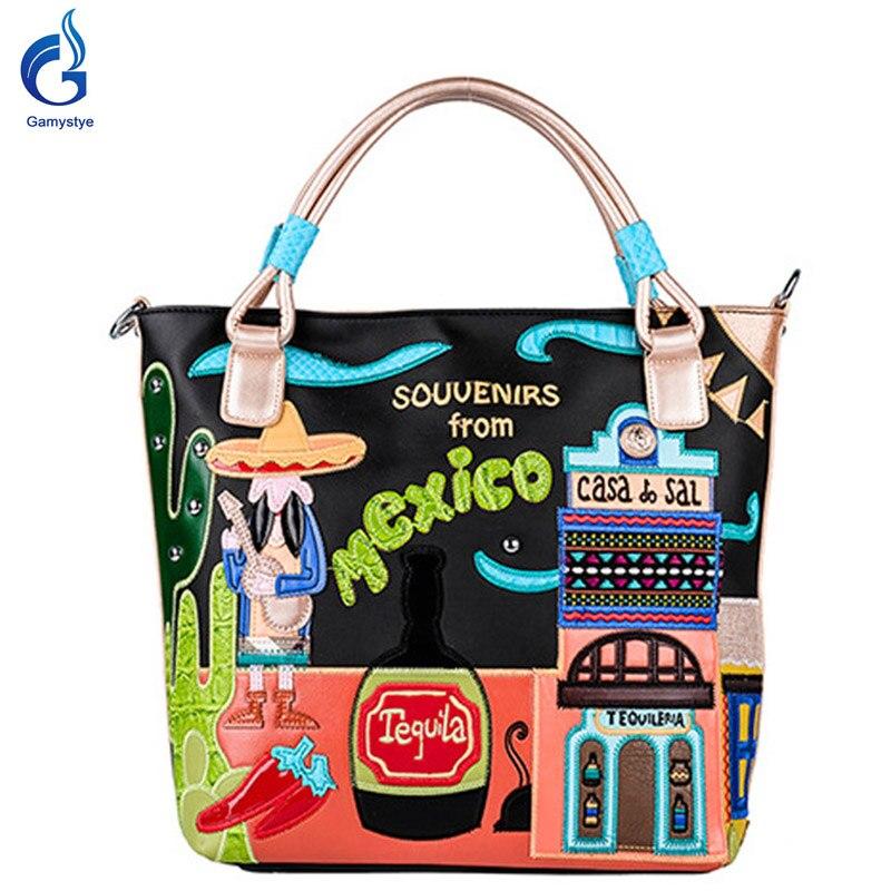 Women Messenger Bag pu Handbag Bolsas fashion mexico beer chili cactus window st
