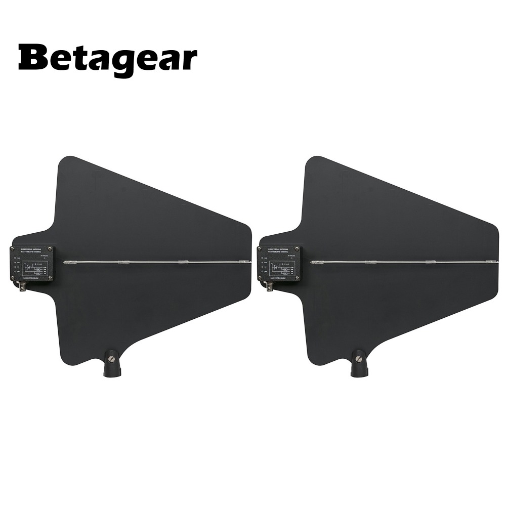 Betagear Digital Wireless Receiver W/ Active Directional Antenna UA874 UHF Antenna  Integrated Amp (470-950MHz) For Wireless Mic