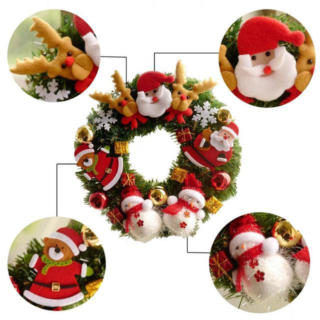 2018 Christmas Wreath Garland Window Decoration Christmas Wreath