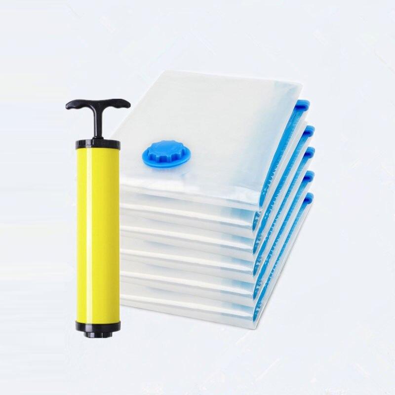 Vacuum-Bags Storage-Bag Luggage Travel-Organizer Closet Foldable Compressed Transparent