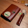 New B6 style handmade vintage notebook genuine leather case journal filler kraft papers free imprint name little green notebook