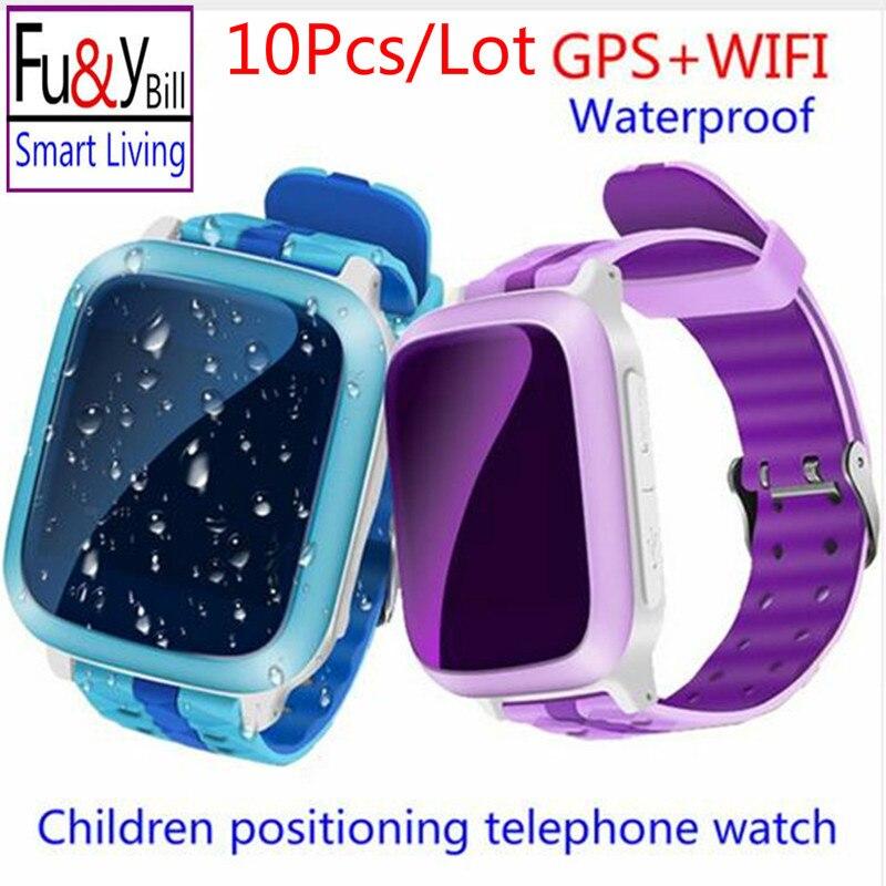 (10 шт./лот) Смартфон GPS часы детские наручные часы DS18 gsm gps wifi локатор трекер анти-потерянный SmartWatch ребенок PK Q80 Q90