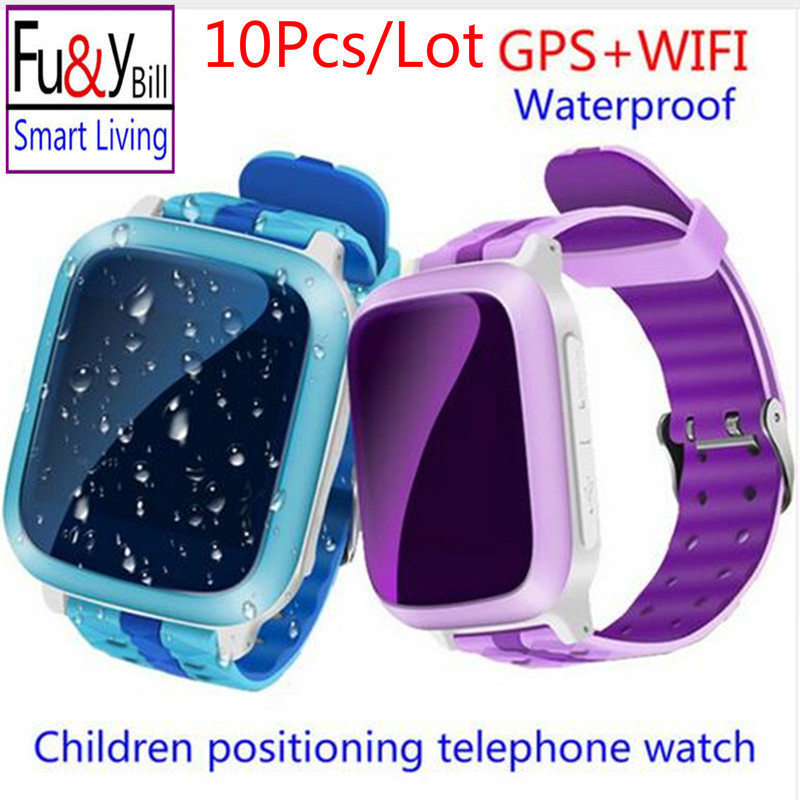10Pcs Lot Smart Phone GPS Watch Children Kid Wristwatch DS18 GSM GPS WiFi Locator Tracker