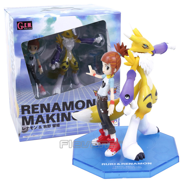 Digimon Adventure Digital Monster Makino Ruki & Renamon PVC Figure Collectible Model ToyAction & Toy Figures