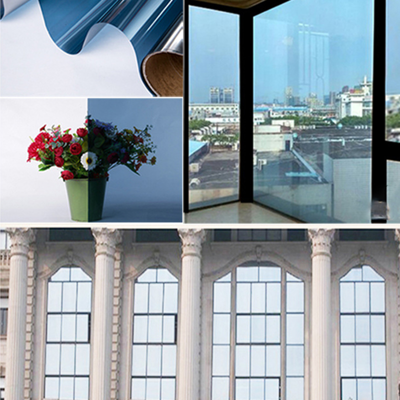 Us 2 98 16 Off Pet 0 088mm Mirrors Membrane Window Glass Sticker Home Decor Sun Protection Insulation Film Sunlight Shading Wall Art Building In