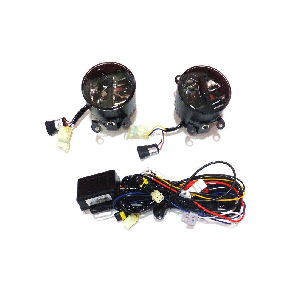 Yeats 1400LM 24 W LED Brouillard Lampe Cas Pour Citroen Berlingo C4 Picasso C5 etc, haute-faisceau + Bas-faisceau + 4 W 560LM Jour DRL