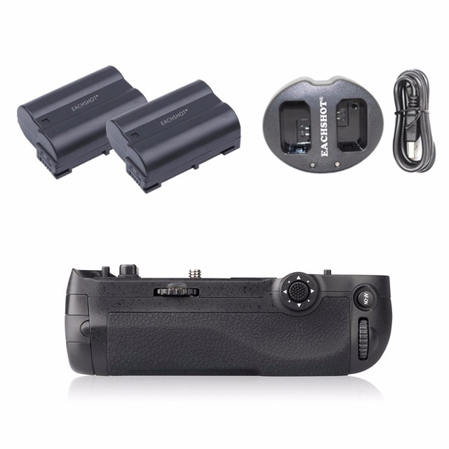 Meike MK-D500 Vertical Battery Grip for Nikon D500 as MB-D17 D17 + 2 pcs EN-EL15 Battery + Dual charger pixel vertax d17 professional battery grip for nikon d500 compatible with en el15 or aa battery replacement for nikon mb d17