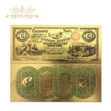 Gold Banknote Fake-Money Gift-And-Collection 100-Dollars 24k-Gold-Plated America-Color