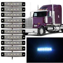 New Arrival 10pcs 6 LED Truck Lorries Bus Clearance Side Marker Indicators Light Lamp Amber White Truck Light