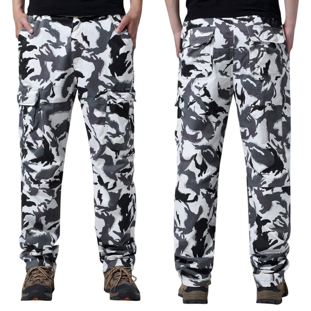 Fashion Men Outdoor Casual Pants Solid Loose camouflage combat overalls pant Spring 2019 MenClothe Denim Pants Distressed Freyed