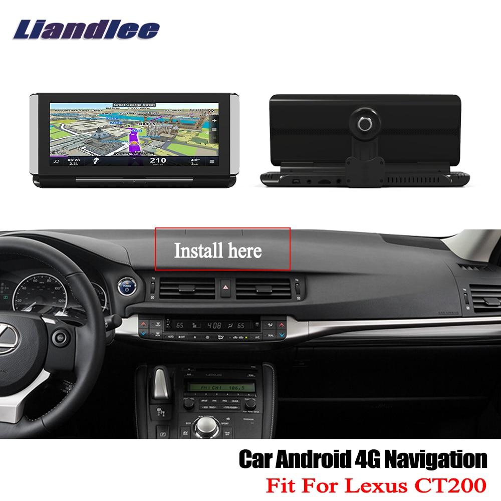 Liandlee For Lexus CT200 200H 2011~2017 Car Android 4G 1080P DVR Front rear Camera GPS Navi Nav Maps HD Screen Bluetooth WiFi