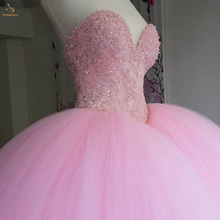 Bealegantom 2019 Fuffy Ball Gown Beaded Crystal Quinceanera Dress with For 15 Years Fashion Vestidos De Anos QA1391