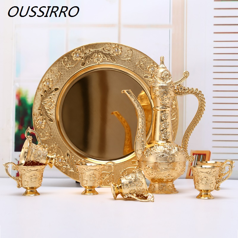 Wholesale European Luxury Vodka Mass Volume Wine Set Brandy Snifters Gold Goblet Engraving Shot High Spirits Barware Gifts image