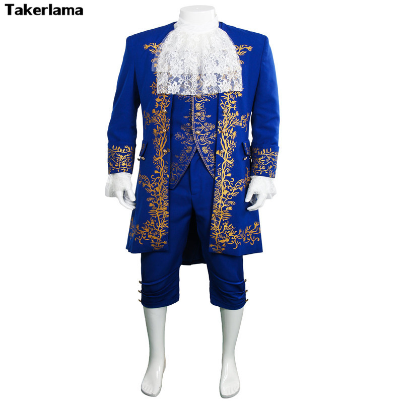 Beauty and The Beast Costume Prince Cosplay Adam 2017 Movie Outfit Halloween Men Coat Gentleman Clothes Party Custom Made Adult
